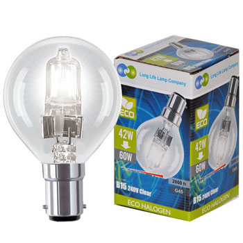 "Halogen ""Eco"" 18W Clear BC"
